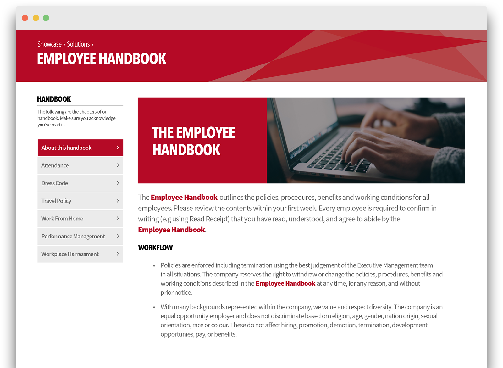 company policy handbook manual management software igloo