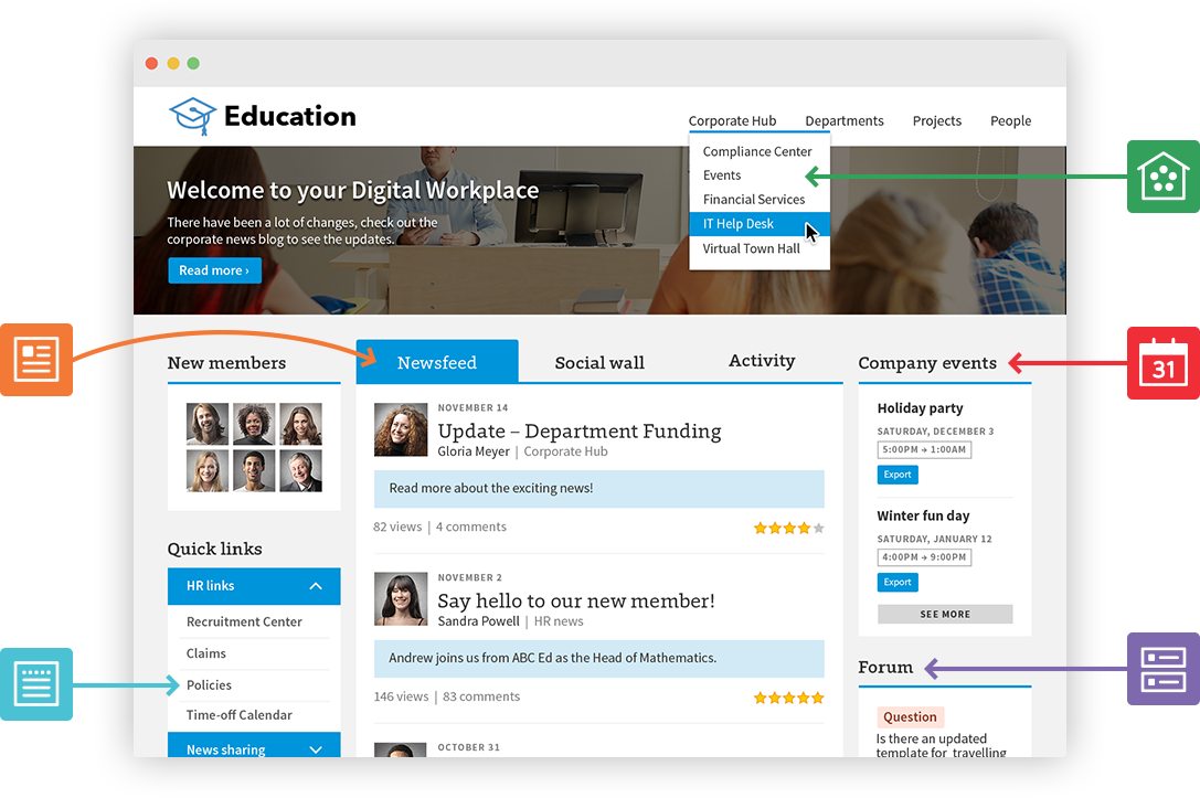education features screenshot