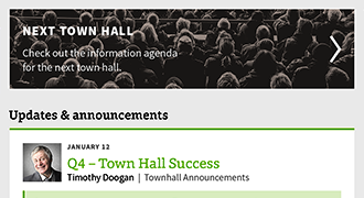 virtual town hall screenshot