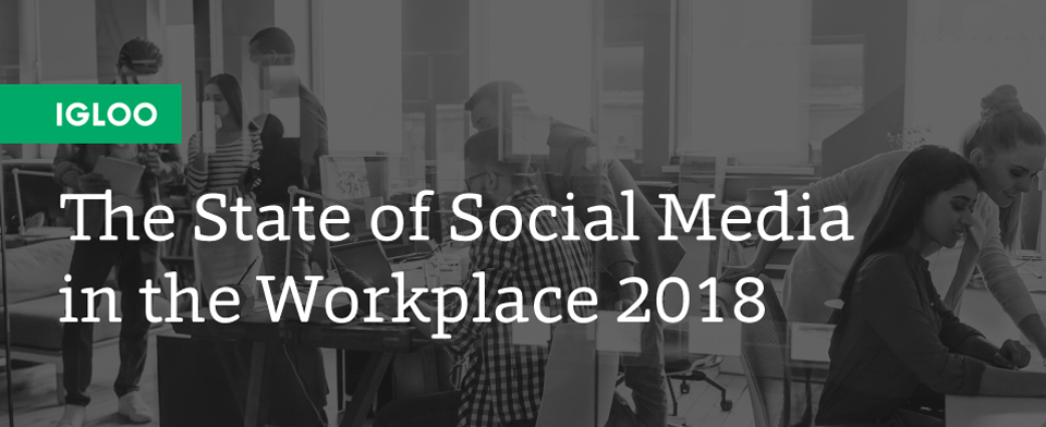 infographic the state of social media in the workplace igloo