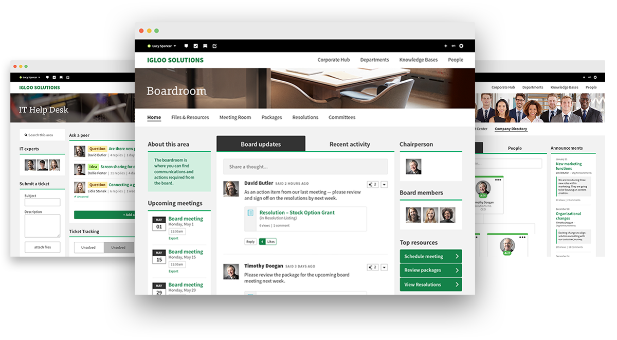 Collaborate with your Igloo Digital Workplace