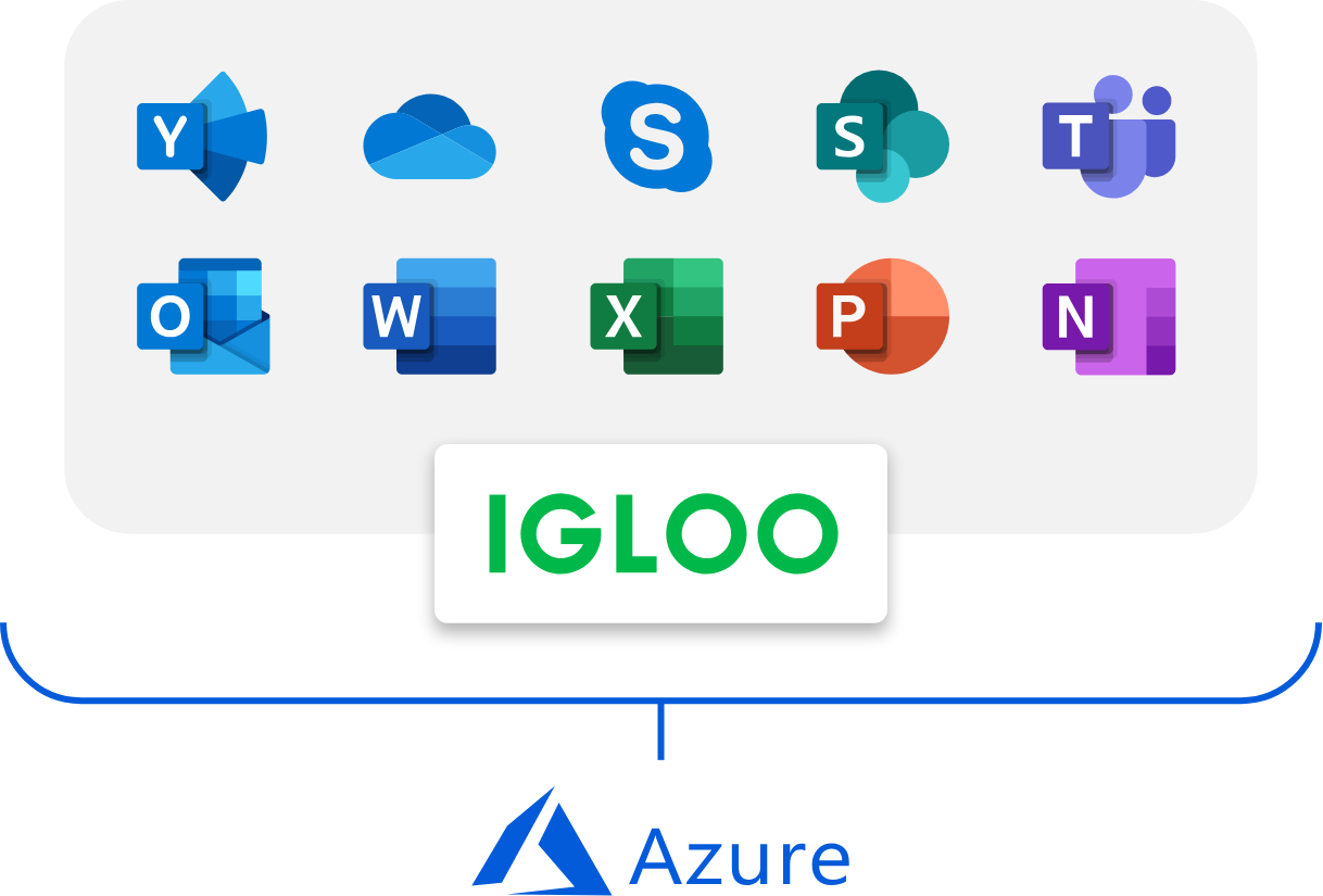 Igloo integrates with the Office365 suite