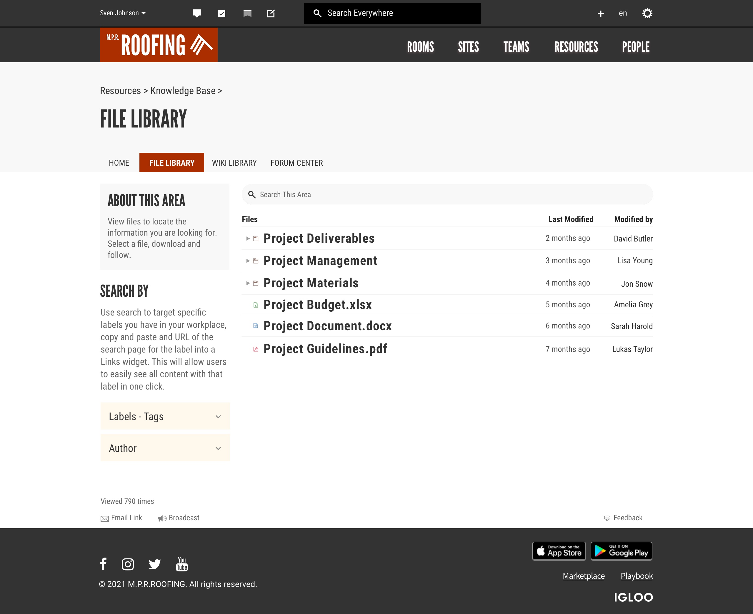 Knowledge Base File Library