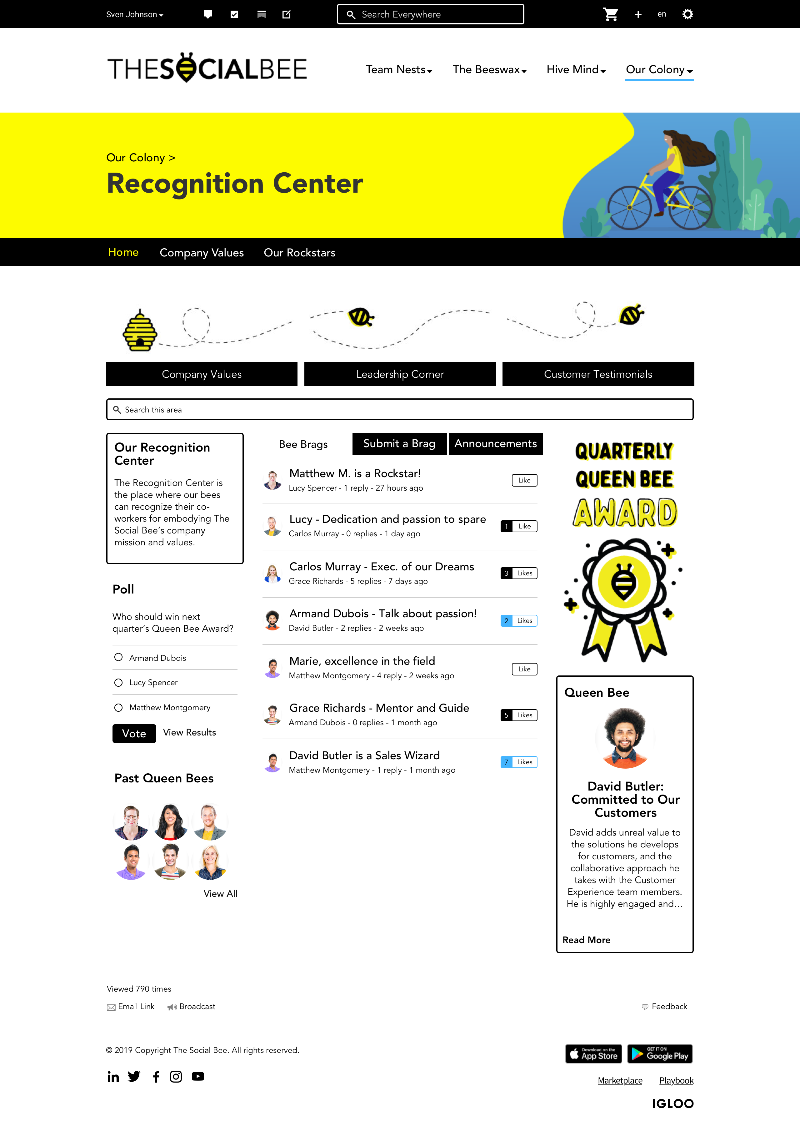 Recognition Center Home