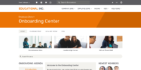 Onboarding Center Home