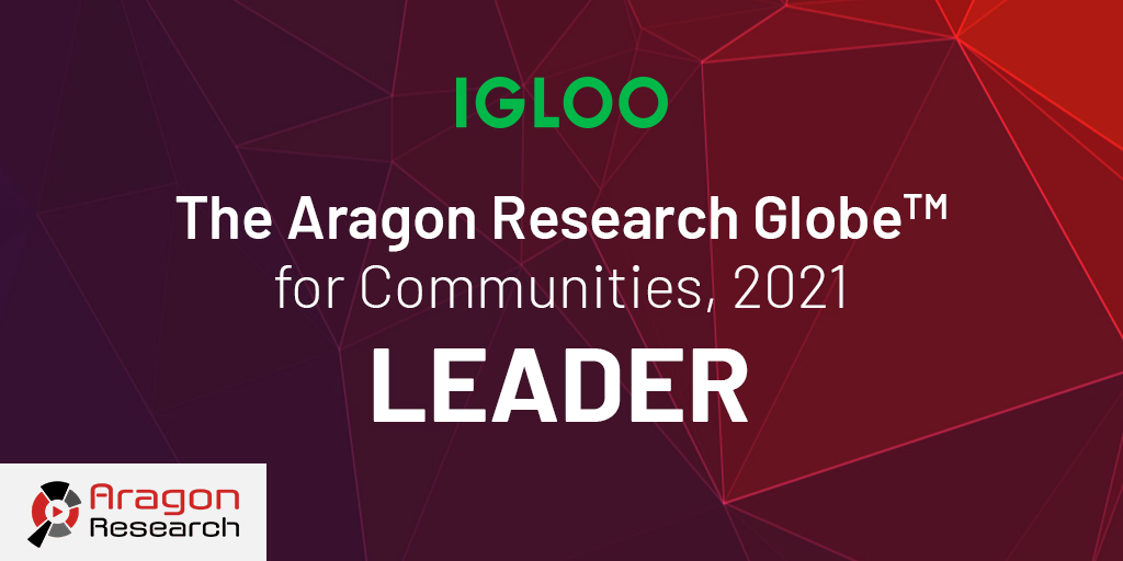 Aragon Research names Igloo a leader in the GlobeTM for Communities, 2021