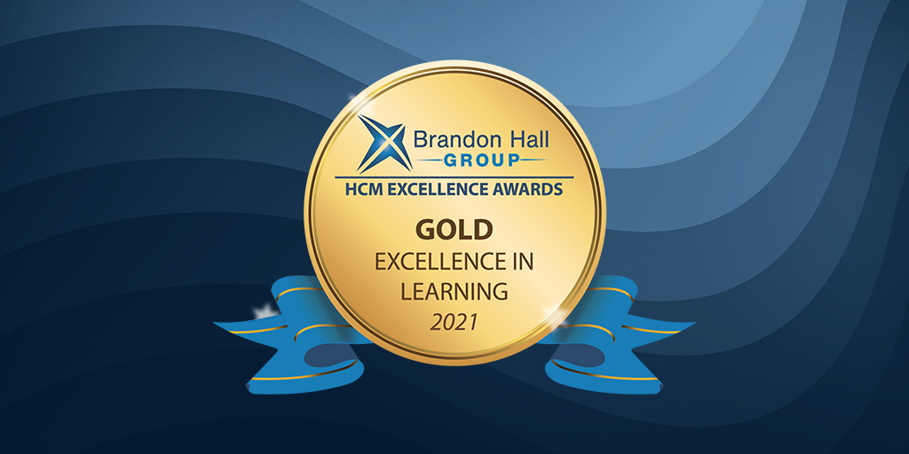 Gold badge: HCM excellence awards: Gold in excellence in learning 2021